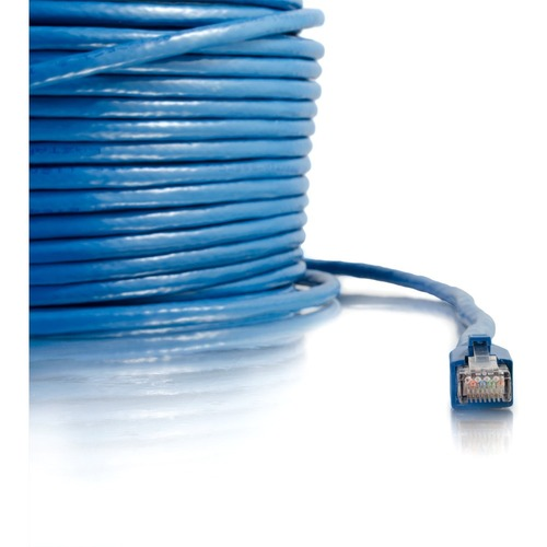 C2G 150ft Cat6 Snagless Solid Shielded Network Patch Cable   Blue 300/500