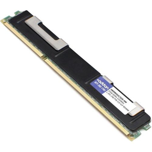 AddOn AM1333D3QR4VRN/32G x1 Dell SNP0R45JC/32G Compatible Factory Original 32GB DDR3-1333MHz Registered ECC Quad Rank x4 1.35V 240-pin CL9 Very Low Profile RDIMM