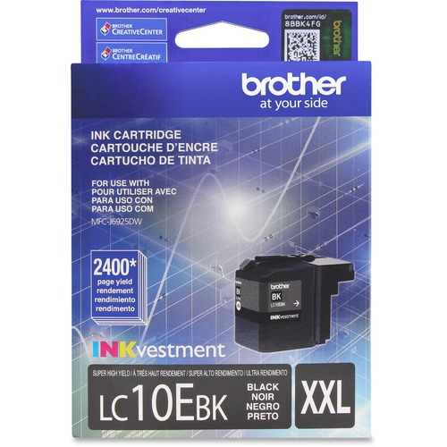 Brother Genuine LC10EBK INKvestment Super High Yield Black Ink Cartridge 300/500