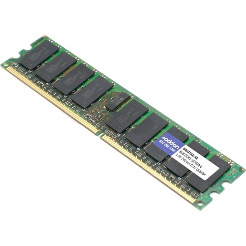 AddOn AA160D3N/8G x1 HP B4U37AA Compatible 8GB DDR3-1600MHz Unbuffered Dual Rank 1.5V 240-pin CL11 UDIMM
