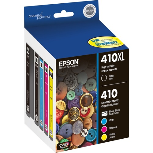 Epson Claria 410XL Original Ink Cartridge   Photo Black, Cyan, Magenta, Black 300/500