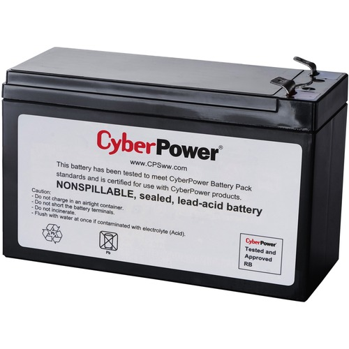 CyberPower RB1270B UPS Replacement Battery Cartridge 18 Month Warranty 300/500