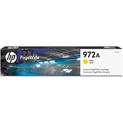 HP 972A | PageWide Cartridge | Yellow | Works With HP PageWide Pro 452 Series, 477 Series, 552dw, 577 Series | L0R92AN 300/500