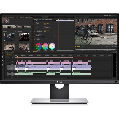 """Dell UltraSharp 27"""" Monitor Black & Silver  -  LED Back-lit - 2560 x 1440 QHD resolution - Includes PremierColor - Widescreen (16:9) - Compatible w/ all operating systems"""