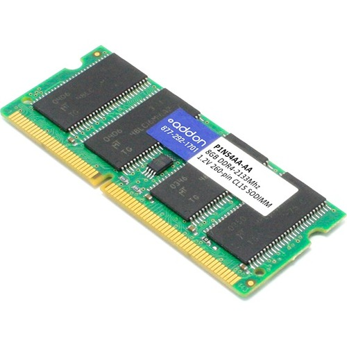 AddOn AA2133D4DR8S/8G x1 HP P1N54AA Compatible 8GB DDR4-2133MHz Unbuffered Dual Rank x8 1.2V 260-pin CL15 SODIMM