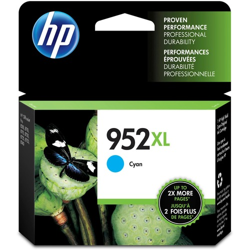 Original HP 952XL Cyan High Yield Ink Cartridge | Works With HP OfficeJet 8702, HP OfficeJet Pro 7720, 7740, 8210, 8710, 8720, 8730, 8740 Series | Eligible For Instant Ink | L0S61AN 300/500