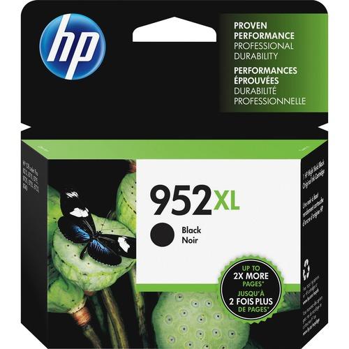 HP 952XL Ink Cartridge, Black (F6U19AN) 300/500