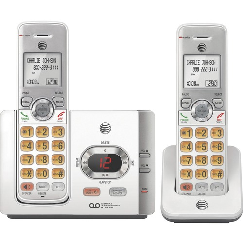 AT&T EL52215 DECT 6.0 Cordless Phone   Silver, Black 300/500