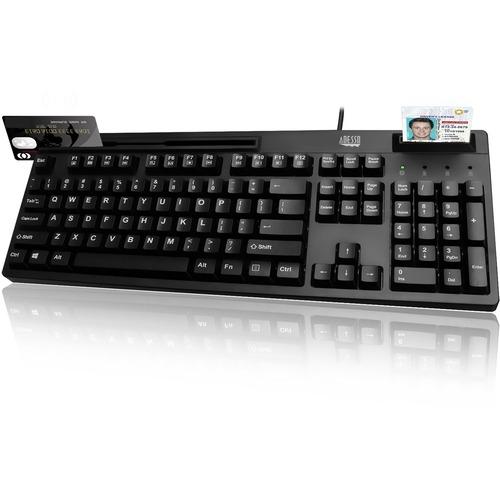 Adesso EasyTouch 630RB - Smart Card & Magnetic Stripe Reader Keyboard