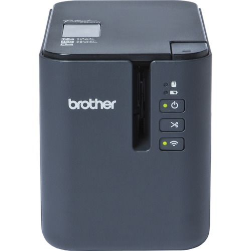 Brother P Touch PT P900W Desktop Thermal Transfer Printer   Monochrome   Tape Print   USB   Serial 300/500