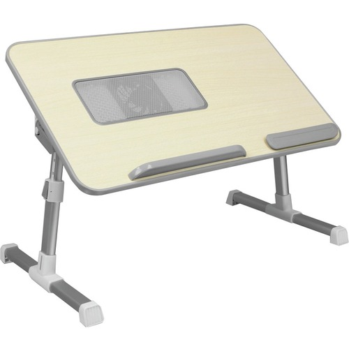 Aluratek Adjustable Ergonomic Laptop Cooling Table With Fan 300/500