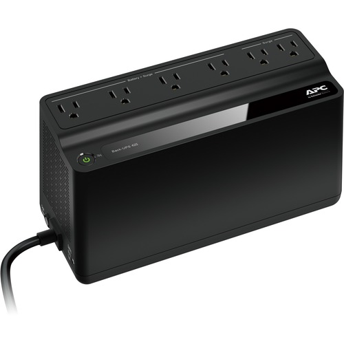 APC By Schneider Electric Back UPS, 6 Outlets, 425VA, 120V 300/500