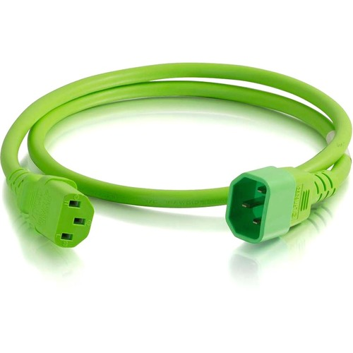 C2G 6ft 18AWG Power Cord (IEC320C14 to IEC320C13) - Green