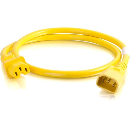 C2G 4ft 18AWG Power Cord (IEC320C14 to IEC320C13) - Yellow