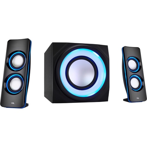 Cyber Acoustics Curve CA-3712BT 2.1 Bluetooth Speaker System - Black