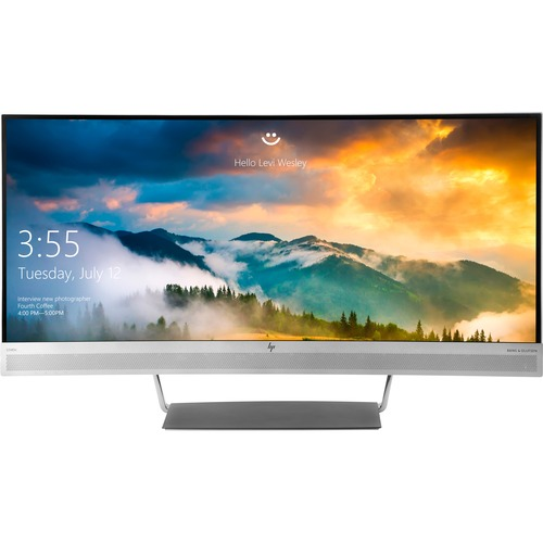 "HP S340c 34"" Curved LCD Business Monitor   3440 X 1440 UW QHD Display   21:9 Aspect Ratio   Three Sided Micro Edge Display   1 X USB C Connection Port   Featured Webcam & Dual Speakers   DisplayPort 1.2 Standard 300/500"