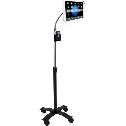 CTA Digital Compact Security Gooseneck Floor Stand for 7-13 Inch Tablets