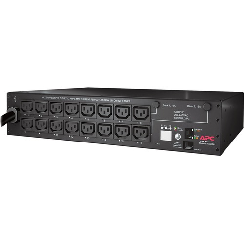 APC By Schneider Electric Rack PDU, Switched, 2U, 30A, 208V, (16)C13 300/500