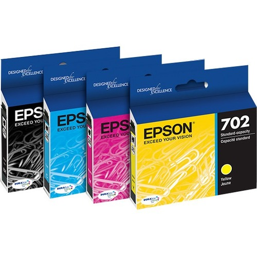 Epson DURABrite Ultra 702 Original Ink Cartridge - Multi-pack - Black, Cyan, Magenta, Yellow