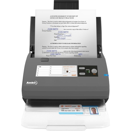 Ambir ImageScan Pro 830ix Sheetfed Scanner   600 Dpi Optical 300/500