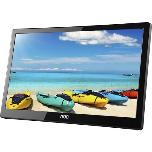 "AOC I1659FWUX 15.6"" Full HD WLED LCD Monitor - 16:9 - Glossy Piano Black"