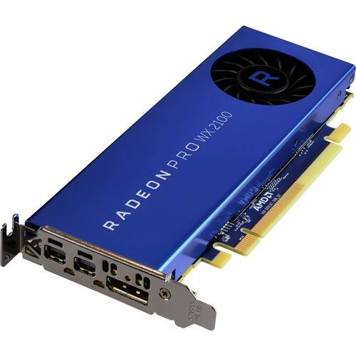 AMD Radeon Pro WX 2100 Graphic Card   2 GB GDDR5   Low Profile 300/500
