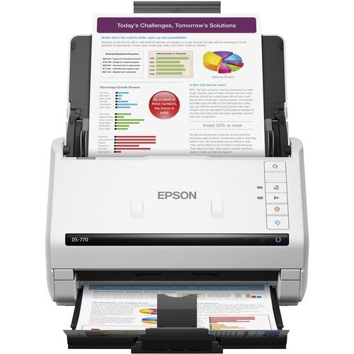Epson WorkForce DS 770 Sheetfed Scanner   600 Dpi Optical 300/500