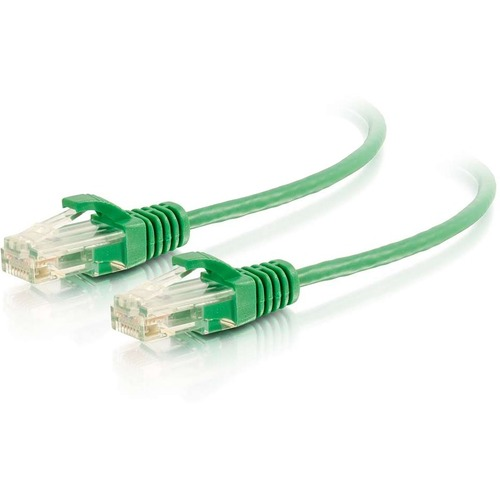 C2G 5ft Cat6 Ethernet Cable - Slim - Snagless Unshielded (UTP) - Green