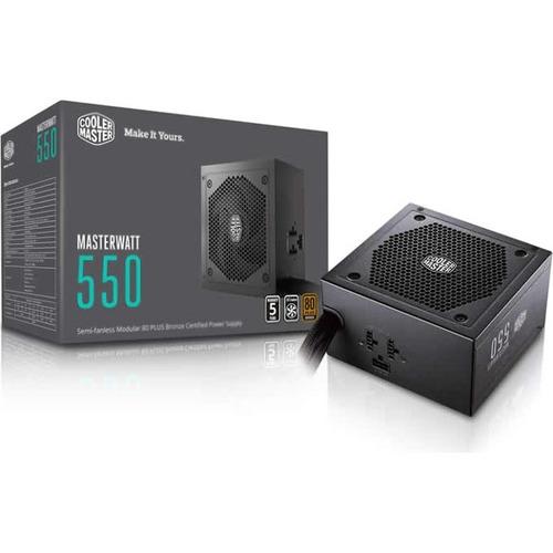 Cooler Master MasterWatt 550 Semi-Fanless Modular 80 PLUS Bronze Certified Power Supply