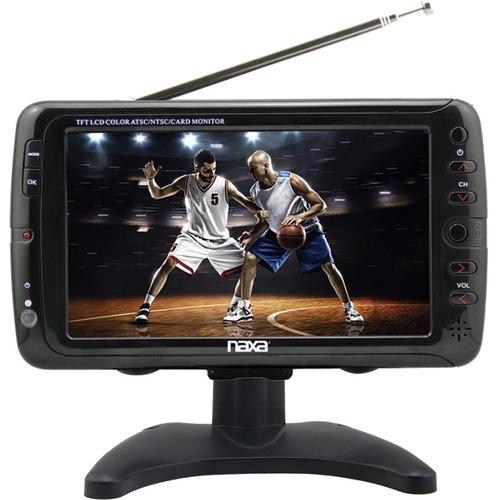 """Naxa NT-70 7"""" LCD TV - Shiny Black"""