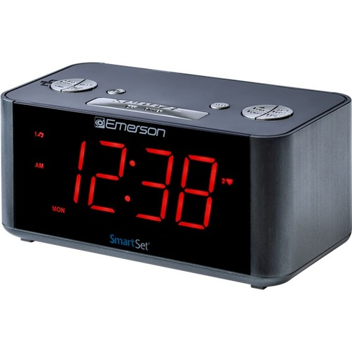 Emerson SmartSet ER100201 Desktop Clock Radio 300/500