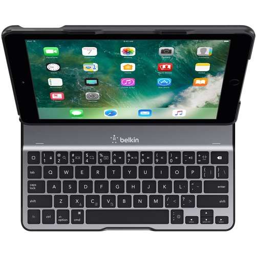 "Belkin QODE Ultimate Lite Keyboard/Cover Case For 9.7"" Apple IPad (5th Generation), IPad Air Tablet   Black 300/500"
