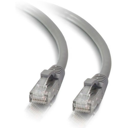 C2G 1ft Cat5e Snagless Unshielded (UTP) Network Patch Ethernet Cable   Gray 300/500