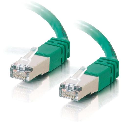 C2G-7ft Cat5e Molded Shielded (STP) Network Patch Cable - Green