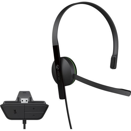 Xbox One CHAT Headset Black  -  Wired - Designed for comfort - Adjustable volume settings - Monaural earpiece - No batteries needed