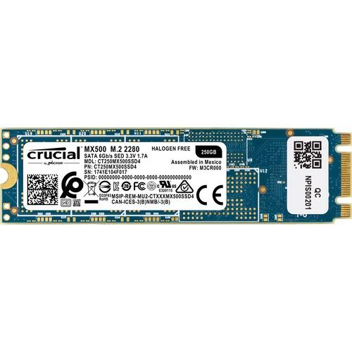 Crucial MX500 250 GB Solid State Drive - M.2 2280 Internal - SATA (SATA/600)