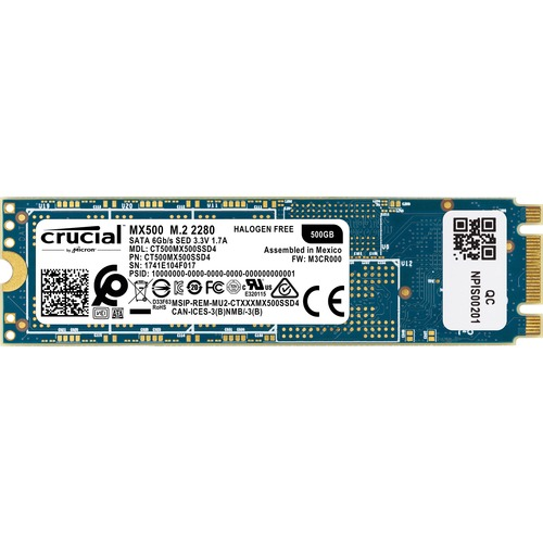 Crucial MX500 500 GB Solid State Drive - M.2 2280 Internal - SATA (SATA/600)