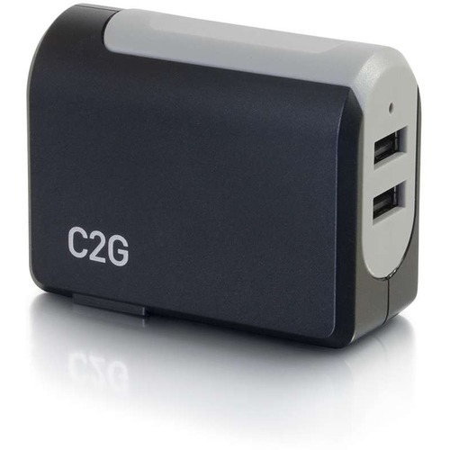 C2G 2-Port USB Wall Charger - AC Power Adapter