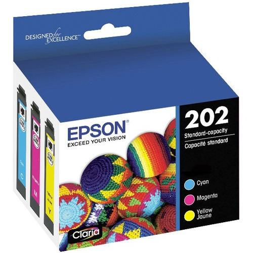 Epson T202520S Claria Standard Capacity Ink Cartridge- Color (Cyan, Magenta and Yellow Jaune)