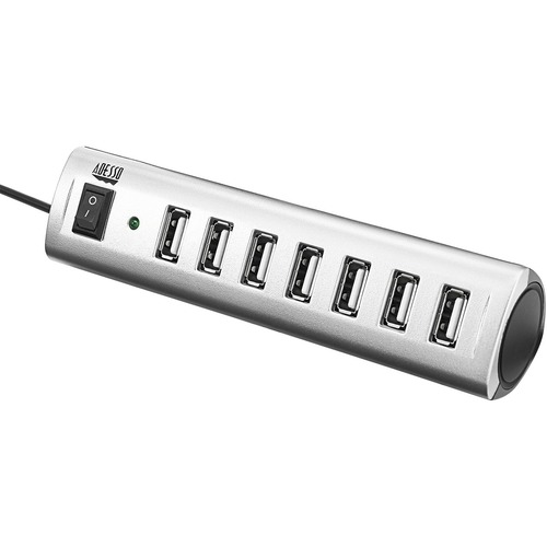 Adesso 7-ports USB 2.0 Hub with 5V2A Power Adaptor