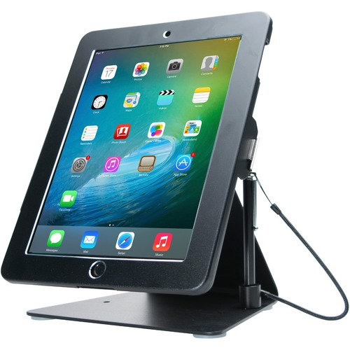 CTA Digital Desktop Anti-Theft Stand Ipad Black Case Rotates 360 Degrees