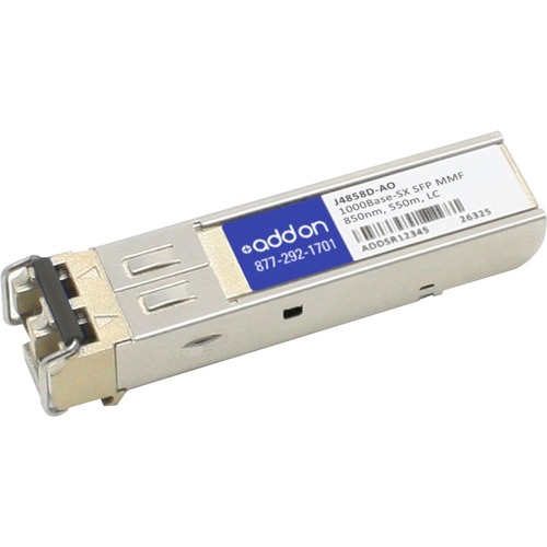 AddOn HP J4858D Compatible TAA Compliant 1000Base-SX SFP Transceiver (MMF, 850nm, 550m, LC)