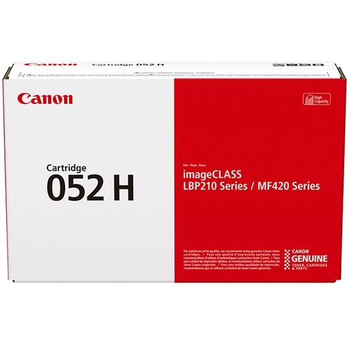 Canon Genuine Toner Cartridge 052 Black, High Capacity (2200C001), 1-Pack, for Canon imageCLASS MF429dw, MF426dw, MF424dw, LBP215dw, LBP214dw Laser Printers, Toner 052 High Capacity Black, 1 Size