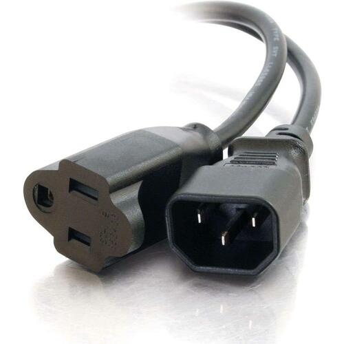 C2G 3ft 18 AWG Monitor Power Adapter Cord (IEC320C14 to NEMA 5-15R)
