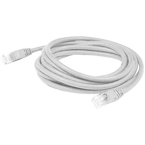 AddOn 25ft RJ-45 (Male) to RJ-45 (Male) Straight White Cat6 UTP PVC Copper Patch Cable