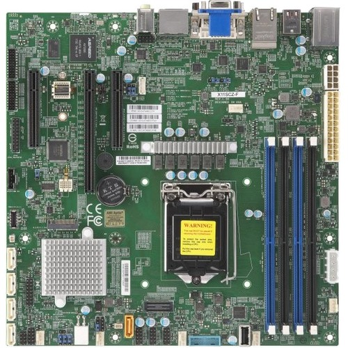Supermicro X11SCZ-F Workstation Motherboard - Intel Chipset - Socket H4 LGA-1151 - Micro ATX