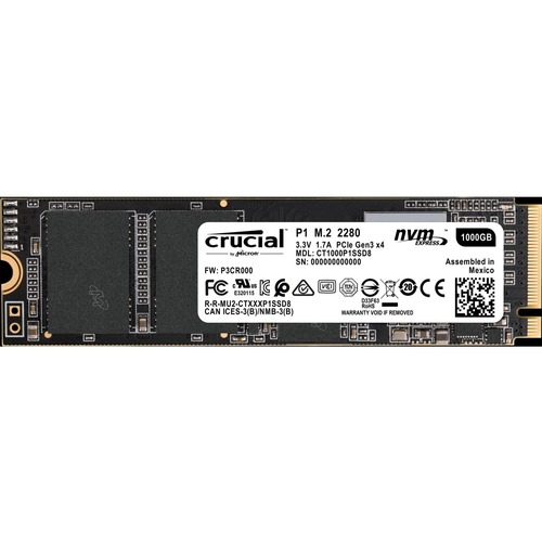 Crucial 1 TB Solid State Drive   M.2 2280 Internal   PCI Express 300/500