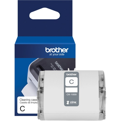 """Brother Genuine CK 1000 ~ 2 (1.97"""") 50 Mm Wide X 6.5 Ft. (2 M) Cleaning Roll For Brother VC 500W Label And Photo Printers 300/500"""