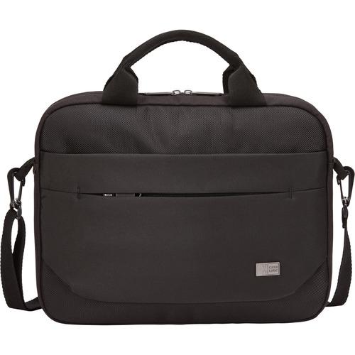 "Case Logic Advantage Carrying Case (Attaché) for 11.6"" Notebook, Tablet PC, Pen, Portable Electronics, Cord, Cellular Phone, File - Black"