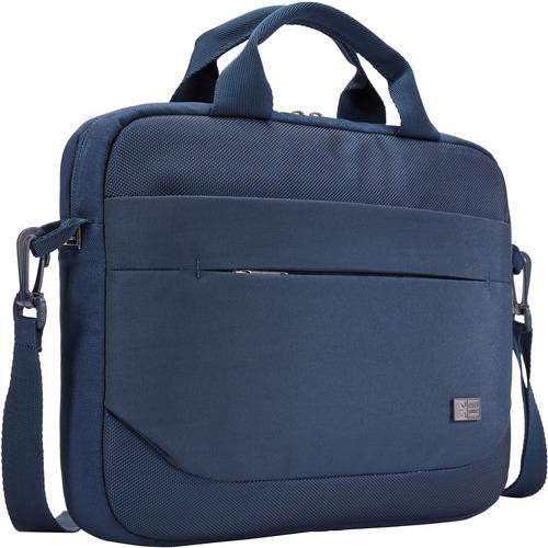 "Case Logic Advantage Carrying Case (Attaché) for 11.6"" Notebook, Tablet PC, Pen, Portable Electronics, Cord, Cellular Phone, File - Dark Blue"